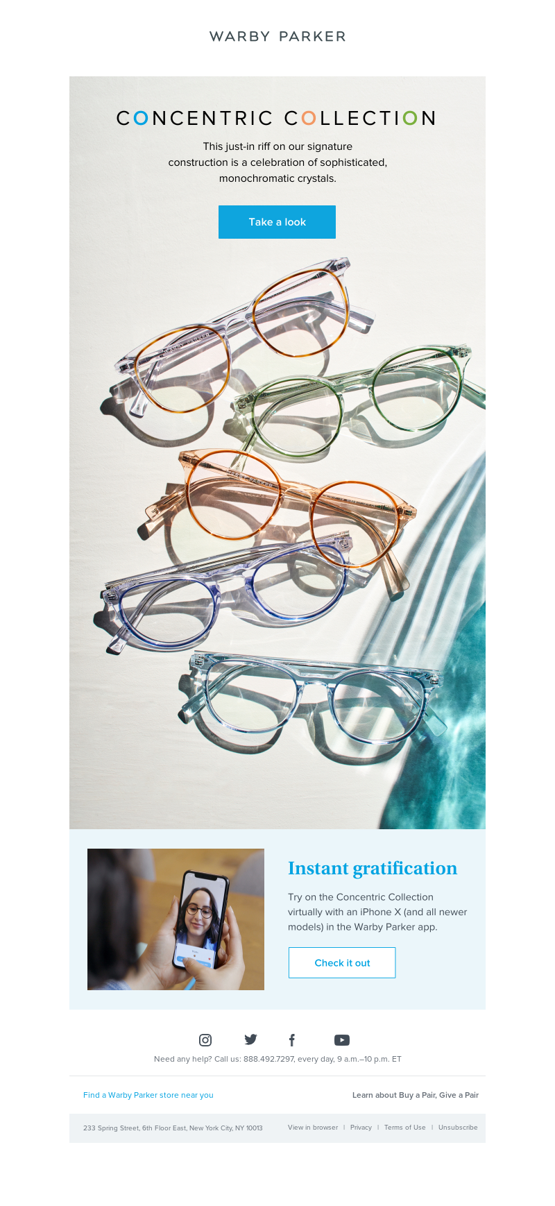Warby Parker - Hello, Concentric Collection