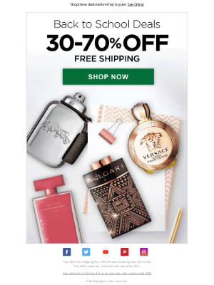 FragranceX - Back to School: 30-70% Off All Fragrances