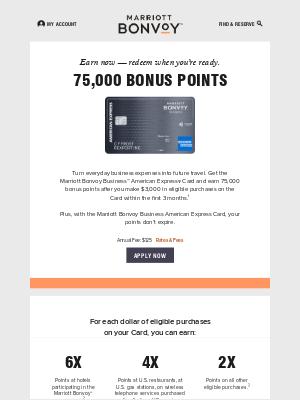 Earn 75,000 Bonus Points