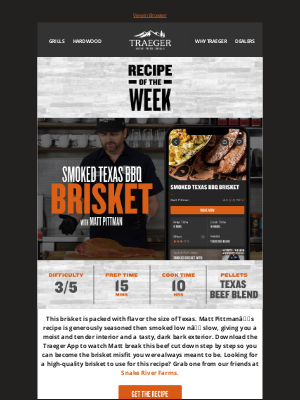 Traeger Grills - Don't Mess With This Texas Brisket