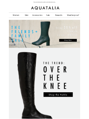 Aquatalia - 30% off sitewide | New + Now | Over The Knee Boots |