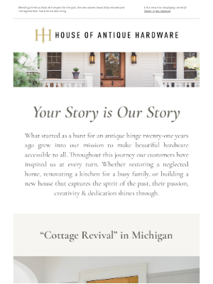 House of Antique Hardware - A Cottage Revival in the Midwest