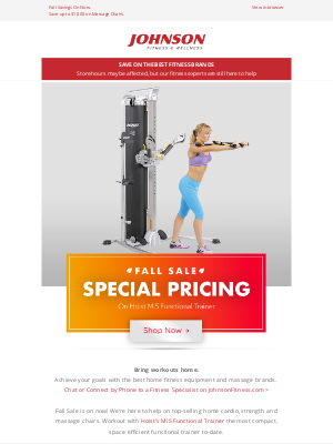 Johnson Fitness - Fall Sale🍂Save on Hoist Mi5 Functional Trainer