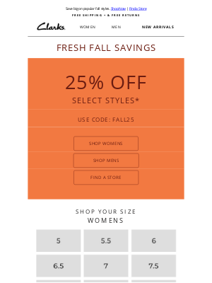 Clarks Shoes - Don't miss out: Fresh Fall Savings