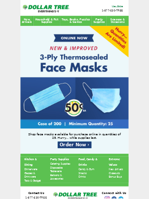 Billy, Don't Miss Out! Order Masks Today