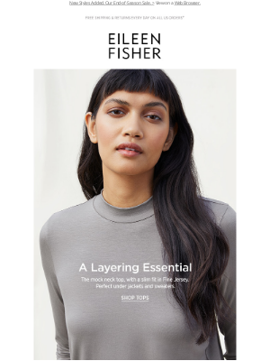 EILEEN FISHER - A Slim Layering Essential