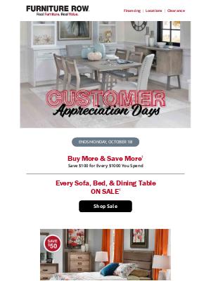 Furniture Row - Final Days | Customer Appreciation Event