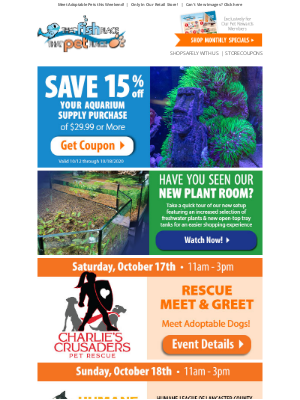 That Pet Place - Need Aquatic Supplies? COUPON INSIDE!