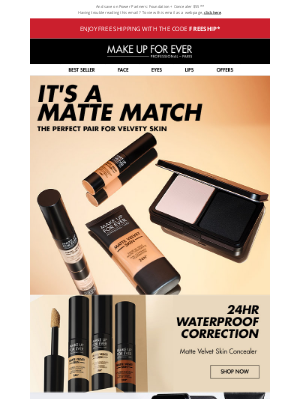 MAKE UP FOR EVER - Natural Mattes For Every Skin Tone