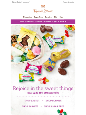 Russell Stover Candies -  🐰 Save up to 35% off Easter Gifts 🐰