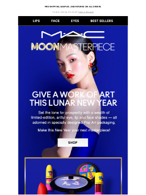 MAC Cosmetics - Ring in the New Year with the NEW Moon Masterpiece collection 🎆 🎉