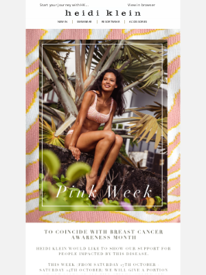 Heidi Klein - PINK OCTOBER | Supporting Breast Cancer Awareness Month