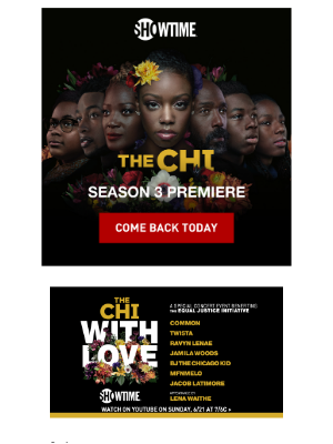 It's here! Don't miss The Chi season premiere, a coming-of-age drama from Lena Waithe