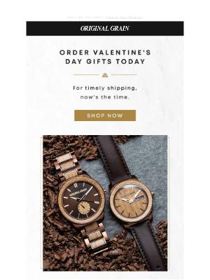 Original Grain - Shipping cutoff for Valentine's Day!