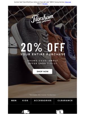Florsheim Shoes - Hot summer shoes, hot summer savings!