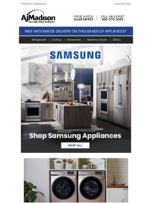 AJ Madison - Samsung Winter Savings --  Save up to $550