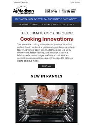 AJ Madison - The Ultimate Cooking Guide + Save up to 30% on Cooking Appliances