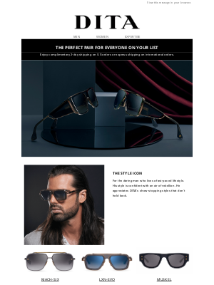 DITA Eyewear - The Perfect Pair for Everyone on Your List