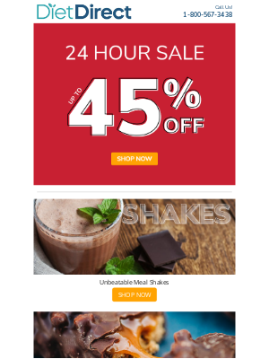 Diet Direct - [Today Only] Flash Sale Happening Now!