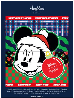 Happy Socks - New Happy Holiday styles from Disney!