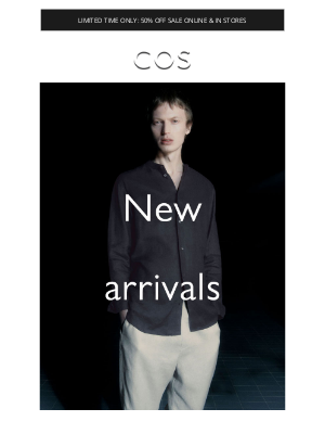 COS - Discover new arrivals + sale at 50% off