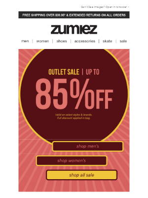 Zumiez - 🛑 Outlet Savings ⇨ Up to 85% Off!