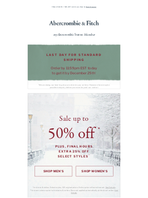 Abercrombie & Fitch - 50% OFF? Oh what fun. ✨