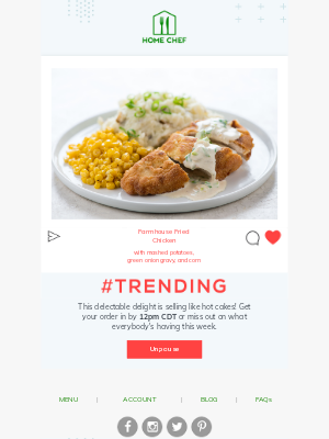 Home Chef - This week's trending dish 📈