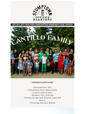 Stumptown Coffee Roasters - Colombia Cantillo Family