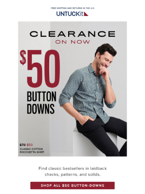 $50 Button-Downs (STILL IN STOCK!)