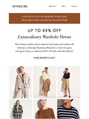 Vince - Our Most Wanted Fabrics—Now up to 80% Off