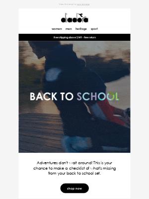 Diadora - Back to school 📚🎓