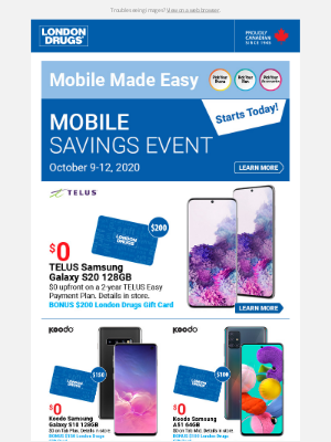 London Drugs (CA) - Mobile Weekend Specials start today! October 9-12, 2020