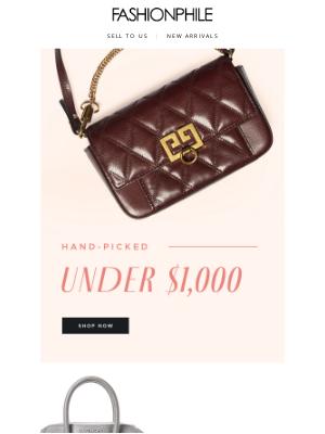 FASHIONPHILE - Hand-picked Under $1,000