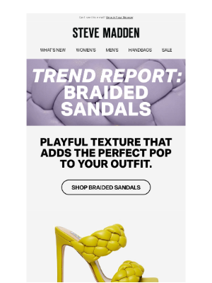 Steve Madden - Your latest trend report