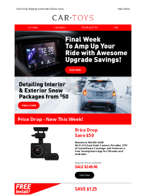 Car Toys - Final week to score savings to upgrade your ride