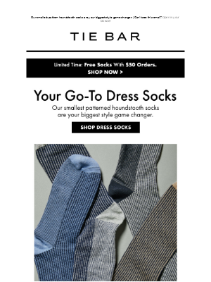 The Tie Bar - Your Go-To Dress Socks