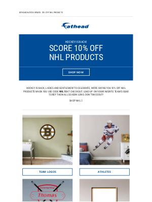 Fathead - Hockey is back! 🏒
