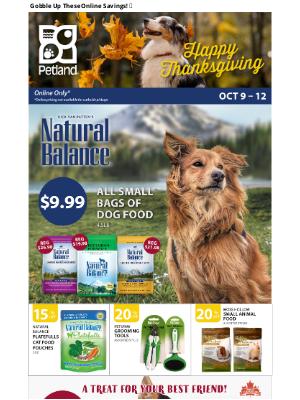 Petland Canada (CA) - Happy Thanksgiving Online Sale 🦃🍂🍂🍂🦃