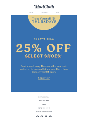 Run, don't walk: 25% off select shoes!