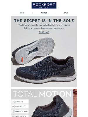 Rockport Company - Just In: Our Newest Total Motion Sneaker