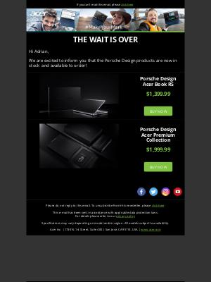 Acer - Porsche Design Acer Book RS Now Available