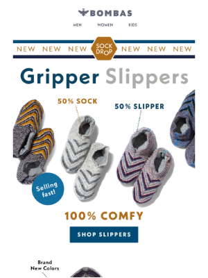 Bombas - The Gripper Slipper: Back In New Colors