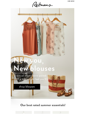 Summer = blouses, dresses and camis