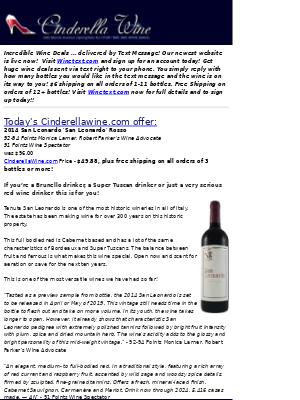 Wine Library - 2014 San Leonardo 'San Leonardo' Rosso (92-94 WA, 91 WS) Secret Price Inside. Free ship on 3