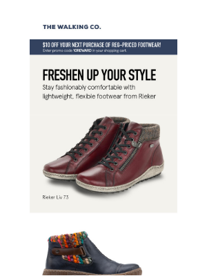 The Walking Company - Fresh Styles for Fall From Rieker