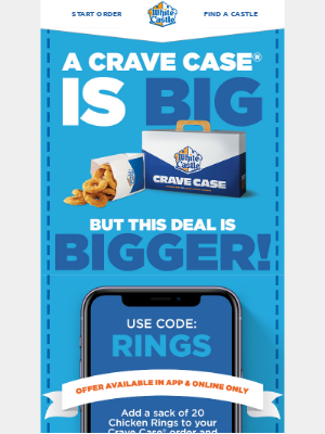 Free Sack of Chicken Rings with your Crave Case