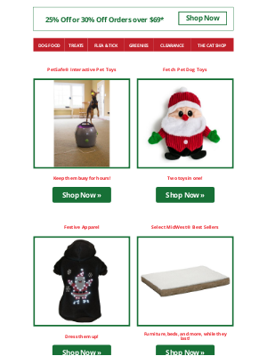 dog - The Holidays Are Coming! 30% Off Your Order