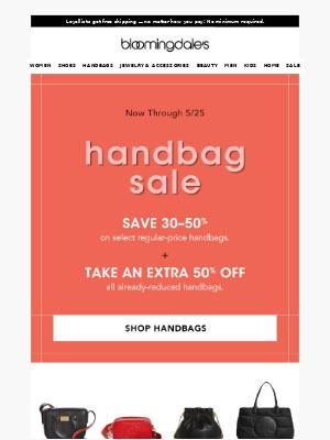 Handbag Sale: Take an extra 50% off
