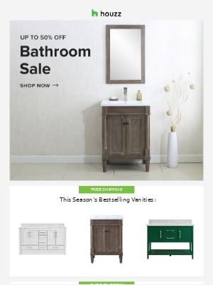 Houzz - Small-space bathroom upgrades 🛁